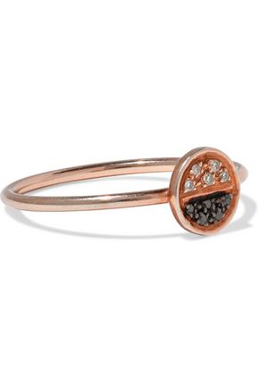 AAMAYA by PRIYANKA Eclipse rose gold-plated sterling silver crystal ring