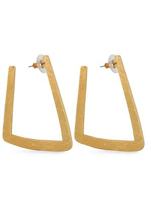 BEN-AMUN Hammered gold-tone earrings