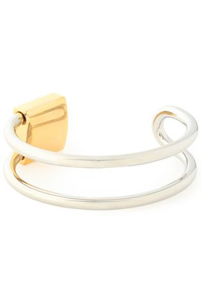 ALEXANDER WANG Silver and gold-tone bangle