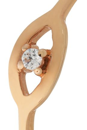AAMAYA by PRIYANKA Rose gold-plated sterling silver crystal ring
