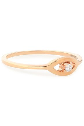 AAMAYA by PRIYANKA Rose gold-plated sterling silver crystal ring