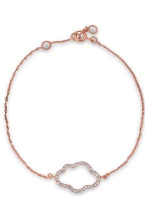 AAMAYA by PRIYANKA Rose gold-plated sterling silver crystal bracelet