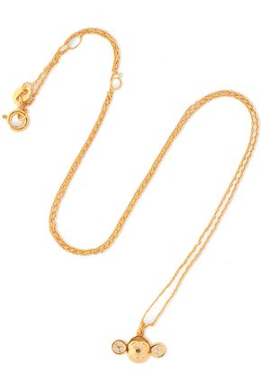 AAMAYA by PRIYANKA Gold-plated sterling silver crystal necklace