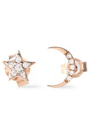 AAMAYA by PRIYANKA Rose-gold tone crystal earrings
