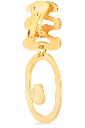 BEN-AMUN Hammered gold-tone resin earrings