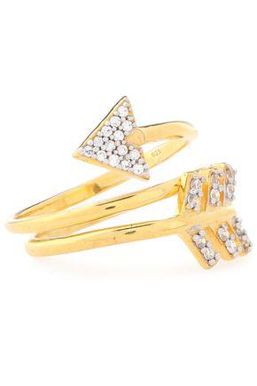 AAMAYA by PRIYANKA Gold-tone crystal ring