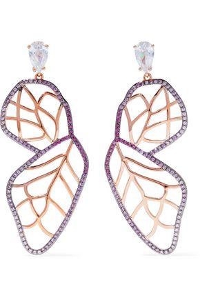 NOIR JEWELRY Rose gold-tone crystal earrings