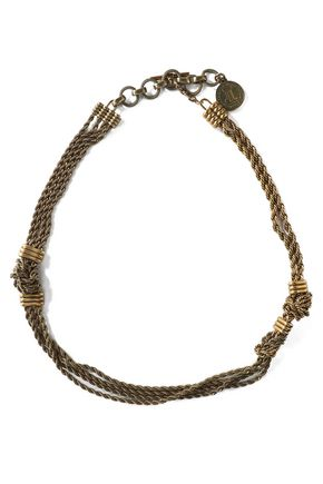 LANVIN Burnished gold-tone necklace