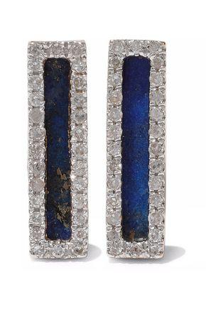 ADINA REYTER 14-karat gold, lapis lazuli and diamond earrings
