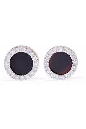 ADINA REYTER 14-karat gold, onyx and diamond earrings