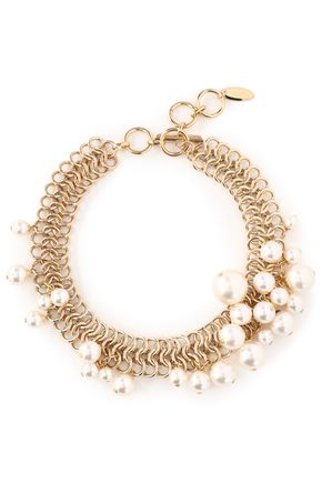 LANVIN Gold-tone fauxe pearl necklace