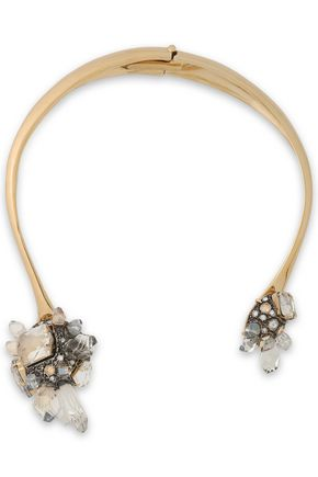 gold-tone-crystal-and-glass-necklace by lanvin