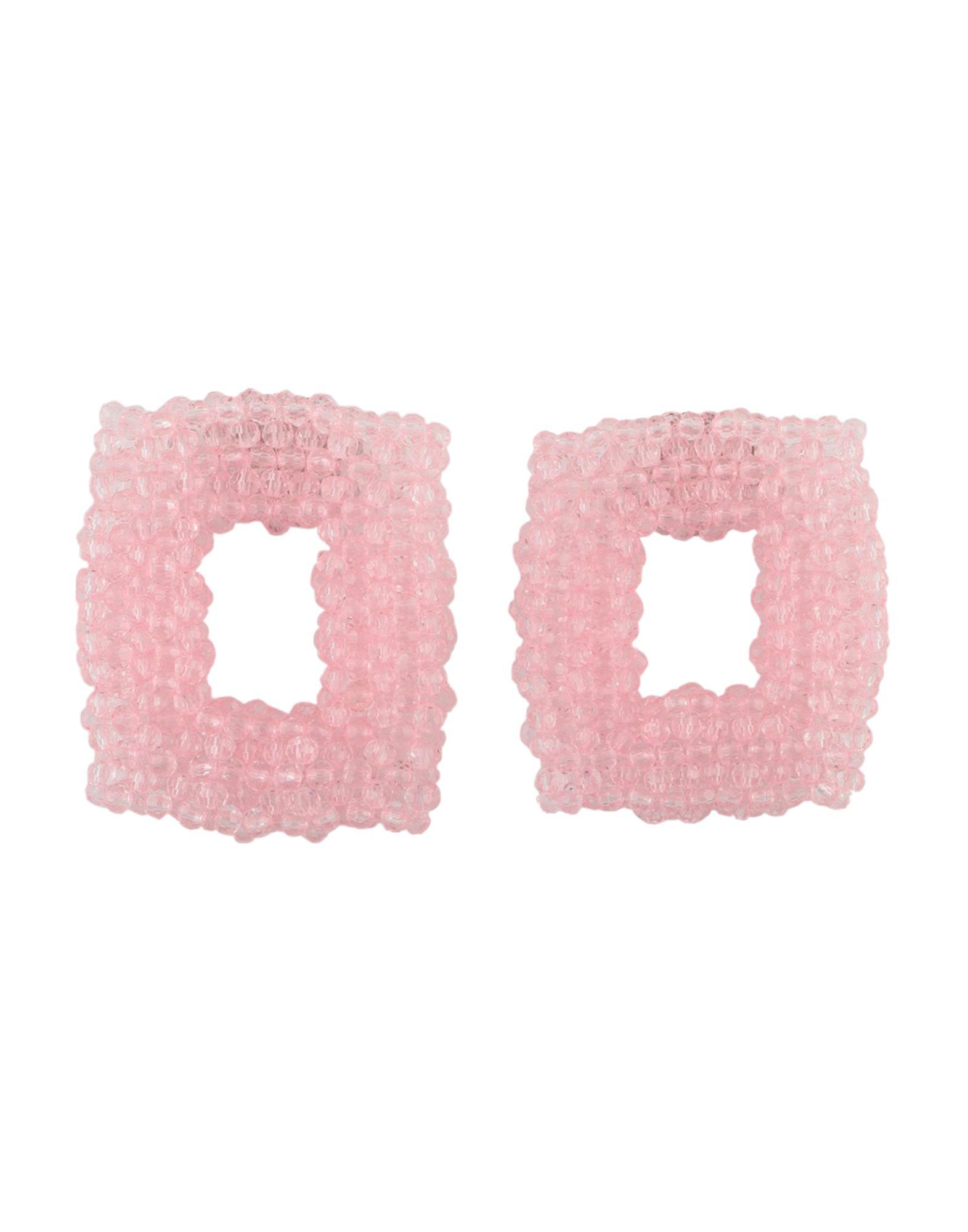 《セール開催中》DRIES VAN NOTEN レディース イヤリング ライトピンク PMMA アクリル樹脂 100%