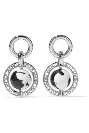 ALEXANDER WANG Silver-plated resin earrings