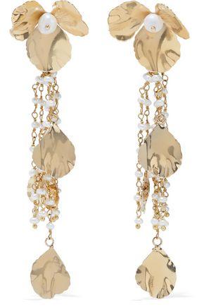 ROSANTICA Poesia gold-tone freshwater pearl earrings
