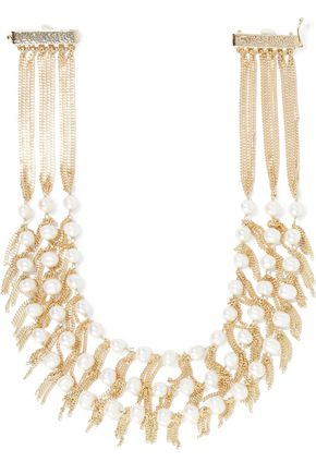 ROSANTICA California gold-tone freshwater pearl necklace