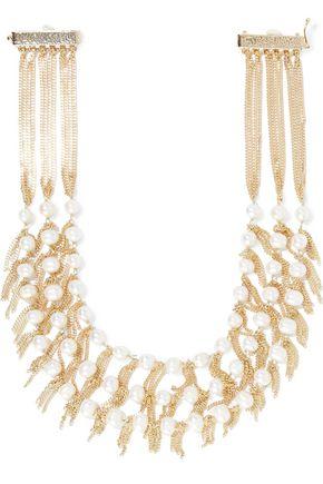 ROSANTICA California gold-tone freshwater pearl necklace
