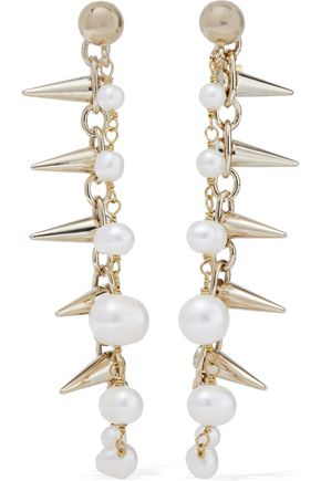 ROSANTICA Gold-plated freshwater pearl earrings