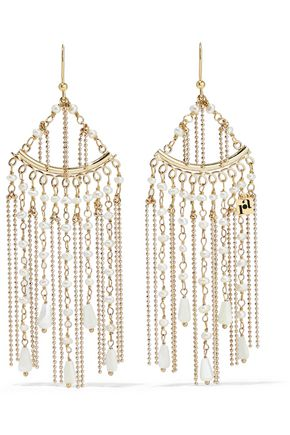 ROSANTICA Lliade gold-tone freshwater pearl earrings