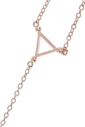 ARME DE L'AMOUR Rose gold-plated finger bracelet