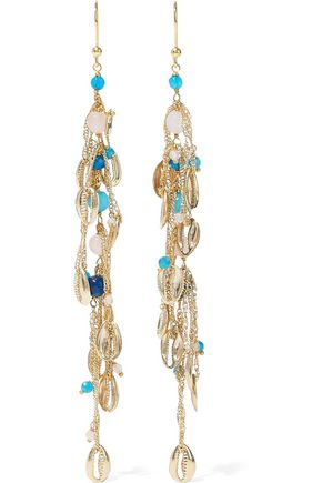 ROSANTICA Tortuga gold-tone bead earrings