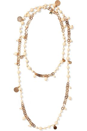 ROSANTICA Opera bead, resin and gold-tone necklace
