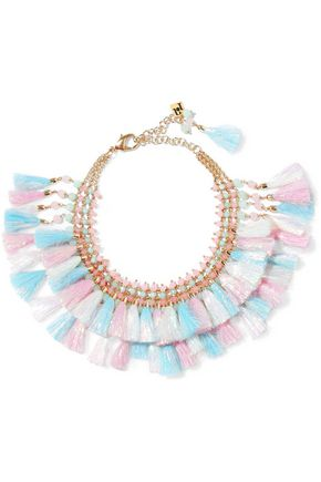 ROSANTICA Baby gold-tone, tassel and bead necklace