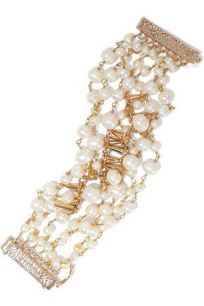 ROSANTICA Gold-plated freshwater pearl bracelet