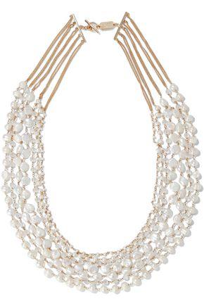 ROSANTICA Prato Fiorito gold-plated freshwater pearl necklace