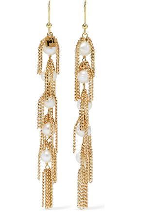 ROSANTICA California gold-plated chain and pearl earrings
