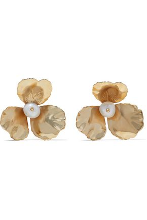ROSANTICA Poesia gold-plated freshwater pearl earrings