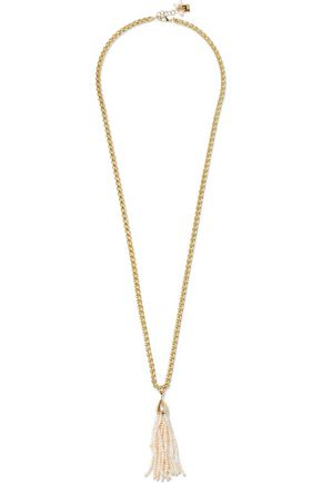ROSANTICA Nebbia gold-plated freshwater pearl tassel necklace