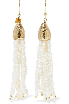 ROSANTICA Nebbia gold-tone freshwater pearl tassel earrings