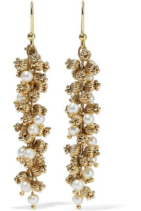 ROSANTICA Rigoletto gold-tone faux pearl earrings