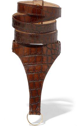 BALMAIN Croc-effect leather bracelet