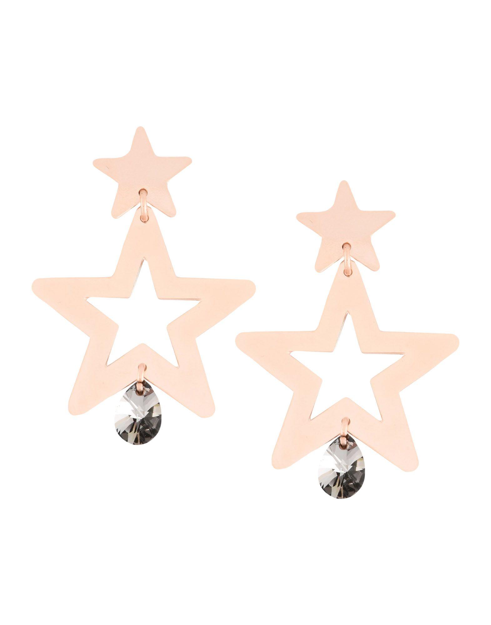 《期間限定セール開催中!》FIRST PEOPLE FIRST レディース イヤリング カッパー 真鍮/ブラス / スワロフスキー ORECCHINI-LOVE-STAR