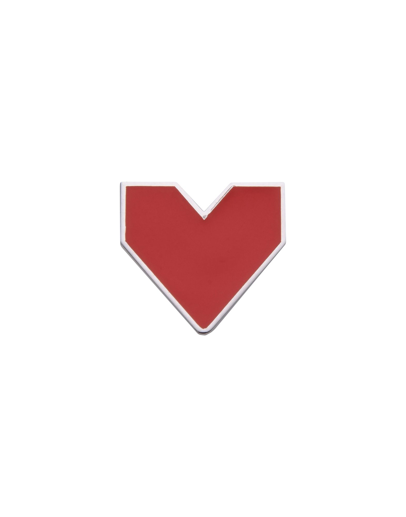 《セール開催中》FIRST PEOPLE FIRST レディース ピアス&イヤリング シルバー シルバー925/1000 / エナメル RED HEART