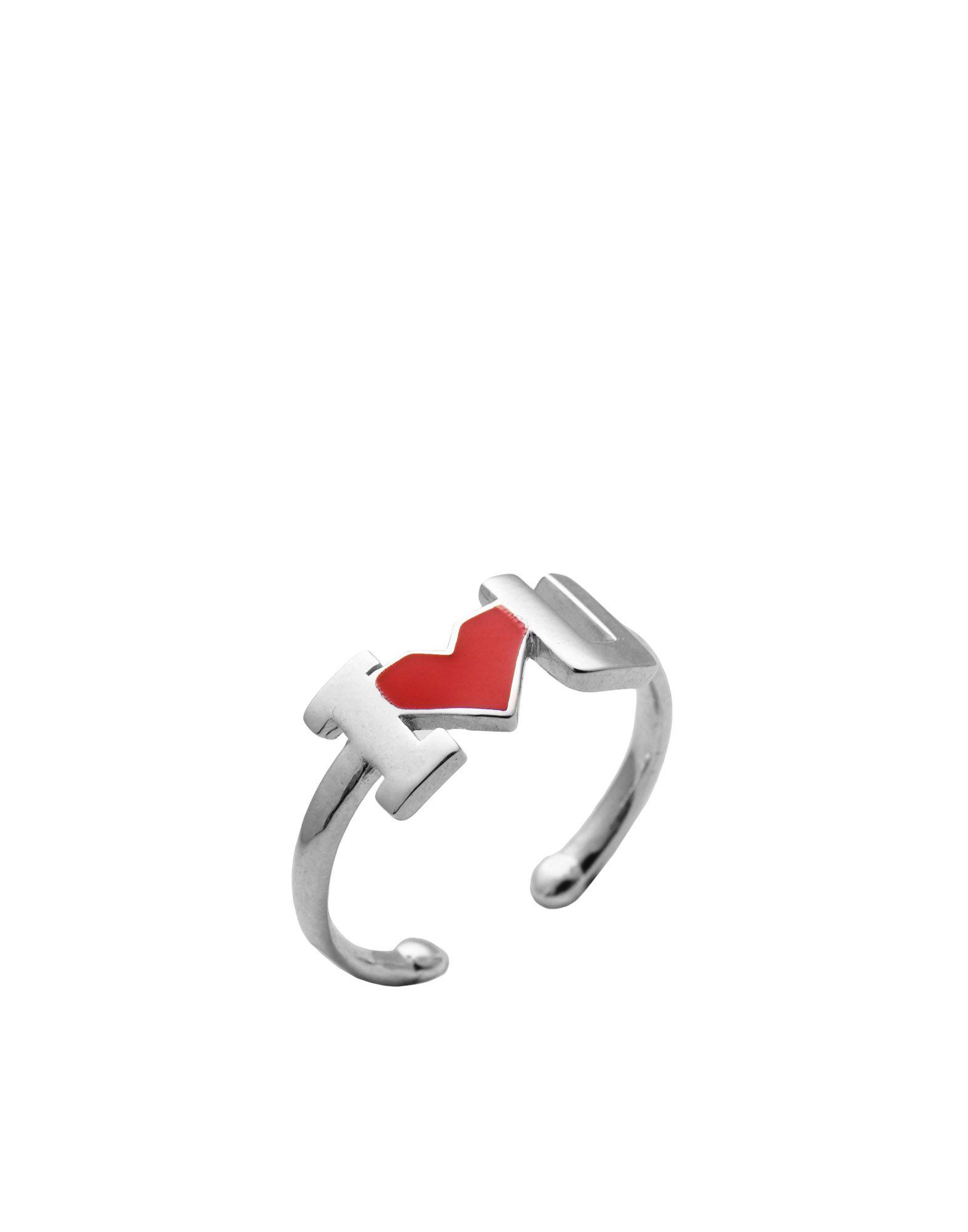《セール開催中》FIRST PEOPLE FIRST レディース 指輪 シルバー one size シルバー925/1000 / エナメル I LOVE YOU