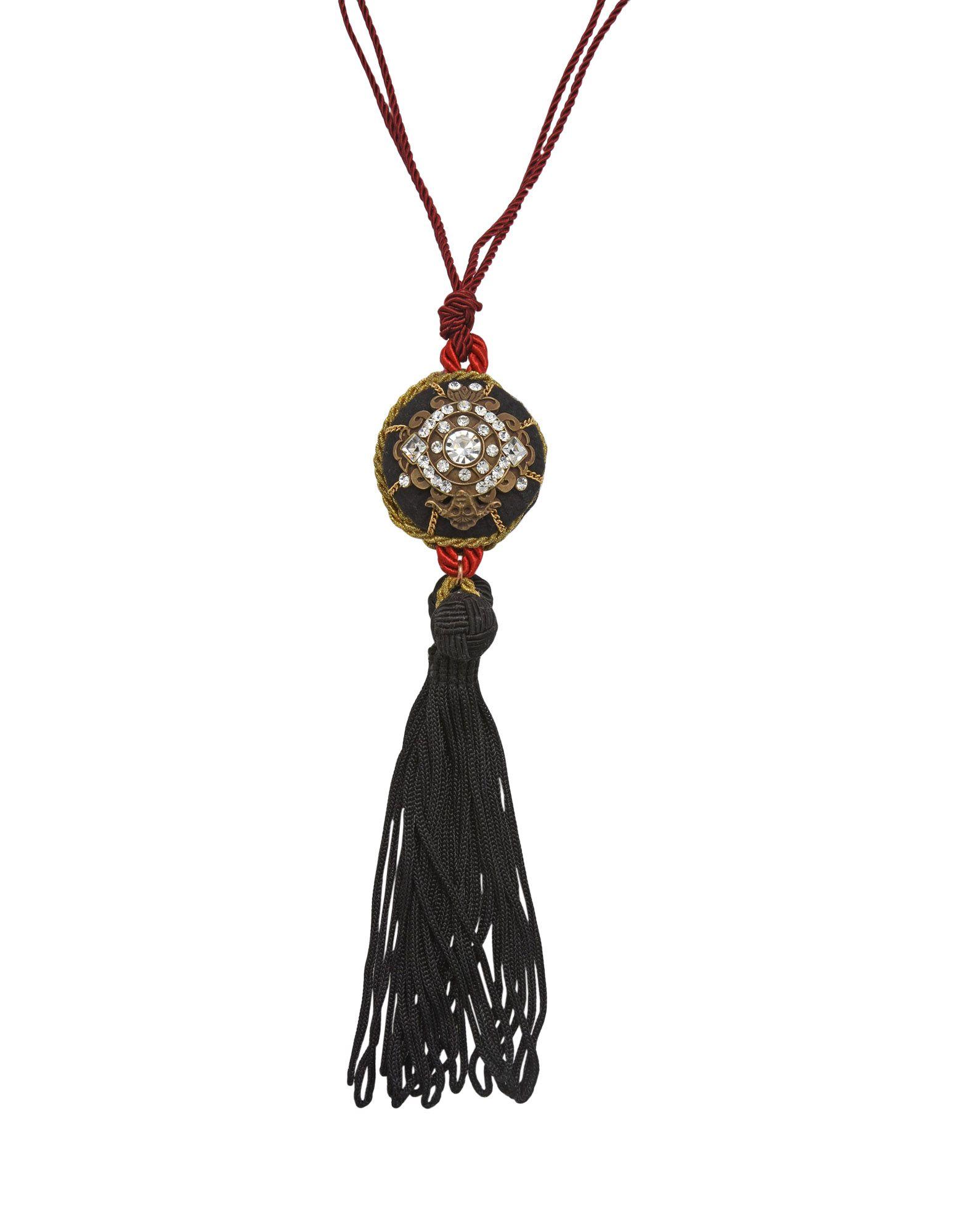 《セール開催中》FIRST PEOPLE FIRST レディース ネックレス ブラック クリスタル / 紡績繊維 COLLANA-CIONDOLO-GRANDE