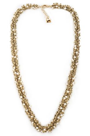 ROSANTICA Gold-tone faux pearl necklace