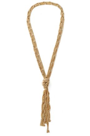 ROSANTICA Gold-tone chain tassel necklace