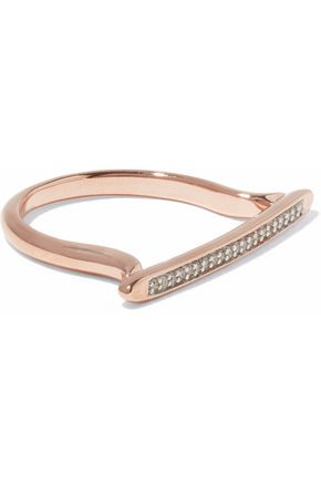 MONICA VINADER Skinny Stacking 18-karat rose gold vermeil diamond ring