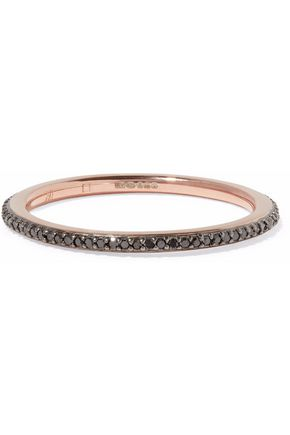 MONICA VINADER Skinny Eternity 18-karat rose gold vermeil diamond ring