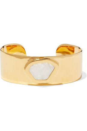 MONICA VINADER Petra Hero 18-karat gold-plated moonstone cuff