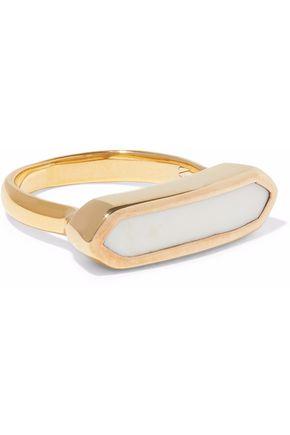 MONICA VINADER Baja 18-karat gold vermeil chalcedony ring