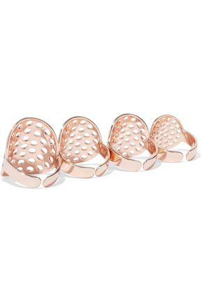 ARME DE L'AMOUR Set of four rose gold-tone rings