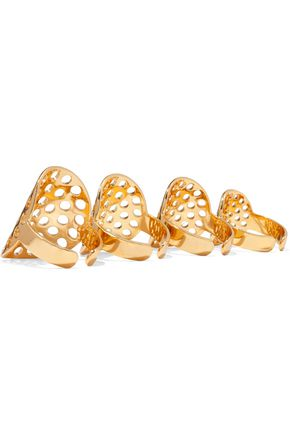ARME DE L'AMOUR Set of four gold-plated rings