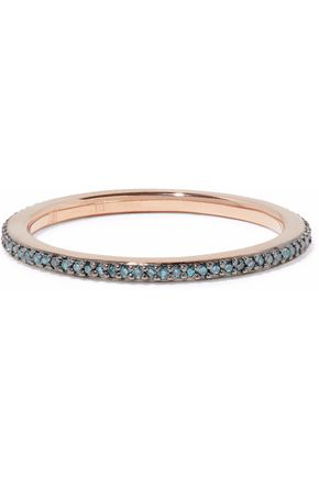 MONICA VINADER Skinny Eternity 18-karat rose gold-plated sterling silver diamond ring