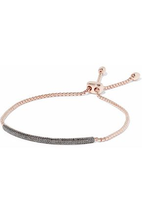 MONICA VINADER Fiji 18-karat rose gold-plated sterling silver diamond bracelet