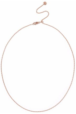MONICA VINADER 18-karat rose gold-plated sterling silver necklace